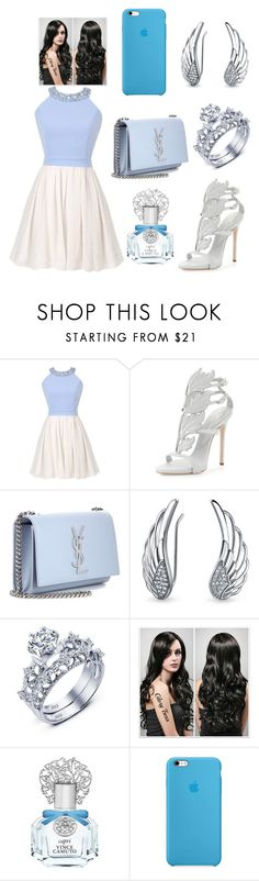 """D$"" by kivericdamira ❤ liked on Polyvore featuring Giuseppe Zanotti, Yves Saint Laurent, Bling Jewelry and Vince Camuto"