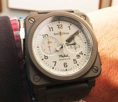 A watch I could like, by the Franco-Swiss watchmaker Bell&Ross, and worn by Rafale pilots!