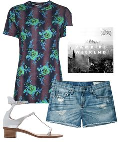 """3 #Lollapalooza Outfits Made For Rocking #refinery29 AKIRA BLACK LABEL HOLOGRAM CROSS-BODY SATCHEL, $44.90, AVAILABLE AT AKIRA; CHRISTOPHER KANE BOUQUET T-SHIRT, $308, AVAILABLE AT FARFETCH; VAMPIRE WEEKEND """"MODERN VAMPIRES OF THE CITY"""" ALBUM, $9.99, AVAILABLE AT ITUNES; ZARA PATENT SANDAL, $29.99, AVAILABLE AT ZARA; JIN SOON TEA ROSE NAIL POLISH, $18, AVAILABLE AT JIN SOON; RAG & BONE CUT-OFF SHORT, $154, AVAILABLE AT LA GARÇONNE."""