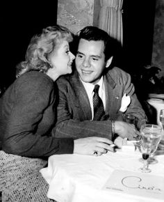 Lucille Ball and Desi Arnaz photographed at Ciro's night club in 1946