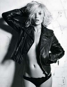 Black underwear and a leather jacket....my two favorite things!