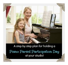 """This guide makes it easy to plan a """"Parent Participation"""" day at your studio."""