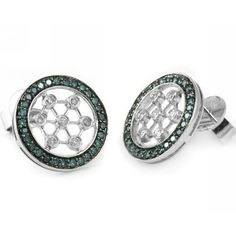 Jewelry Point - 0.68ct Fancy Blue Diamond Stud Earrings 14k White Gold, $549.00 (http://www.jewelrypoint.com/0-68ct-fancy-blue-diamond-stud-earrings-14k-white-gold/)