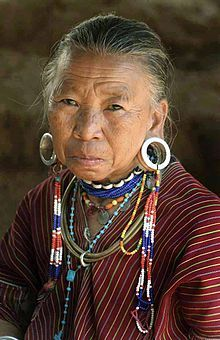 Thai hill tribe woman with stretched earlobes. BEAUTIFUL!