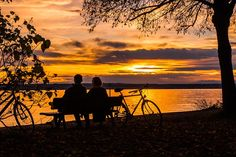 Sunset, Couple, Lac De Constance, Abendstimmung, Plus