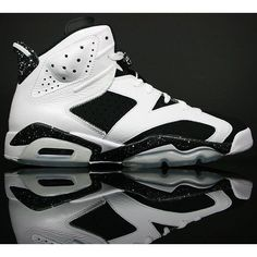 """Nike Air Jordan 6 VI Retro """"Oreo"""" White/Black Available Now •... ❤ liked on Polyvore featuring shoes, jordans and sneakers"""