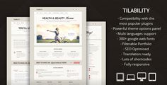 Tilability - Responsive Health & Beauty WP theme by FinalDestiny    Tilability is a clean and unique wordpress theme. Even if it was originally designed for health & beauty websites, it can be