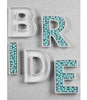 BRIDE Letter Dish Set