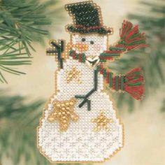 Star Snow Charmer Beaded Christmas Holiday Ornament Kit Mill Hill 2001