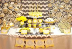 You are My Sunshine Dessert Table baby shower theme