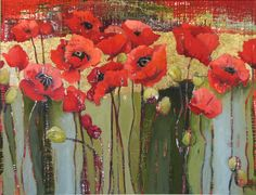 Chilmark Poppy Field by Anne Salas Art Floral, Tableaux D'inspiration, Plant Painting, Painting Flowers, Illustration Blume, Red Poppies, Artist Art, Painting Inspiration, Flower Art