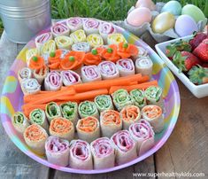 Spring Rolls Easter Platter | Healthy Ideas for Kids