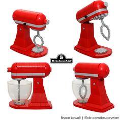 LEGO KitchenAid Tilt-Head Stand Mixer (Details)   Flickr - Photo Sharing! BruceLowell.com