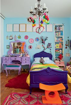 Children Bedroom-love the different colors and excitement of decor