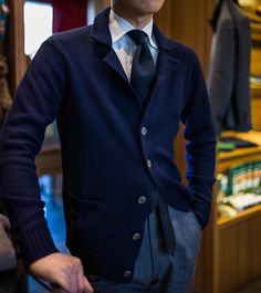 Binovular Cashmere Knit Jacket at the B&TAILOR www.bntailor.com