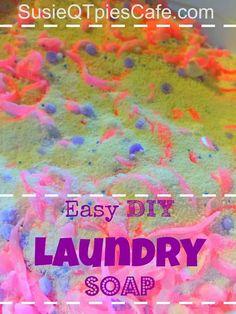DIY Laundry Soap Recipe tutorial - easy idea to save the family money