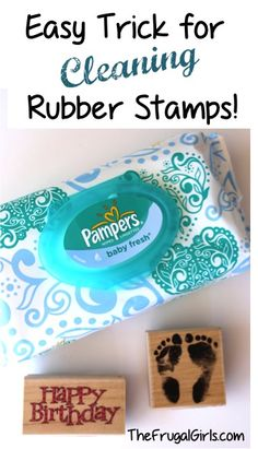 How to Clean Your Rubber Stamps! ~ at TheFrugalGirls.com {this simple little trick works like a charm for your stamps and stamping!}