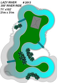 Superb 2013 Lazy River Pool Plan