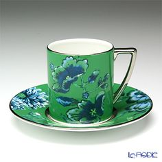 Wedgwood Jasper Conran Chinoiserie espresso cup and saucer (Green