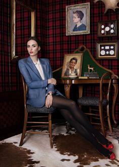 Love the intaglio matted in black  Sophie Auster, Musician! Veranda Magazine