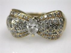 Vintage Bow Diamong Ring