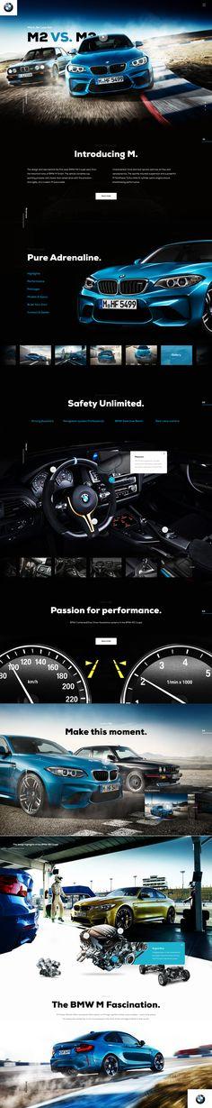 Real pixels User Interface Design, Ui Ux Design, Logo Design, Car Websites, Webpage Layout, Bmw M2, Web Design Projects, Web Design Inspiration, Storytelling