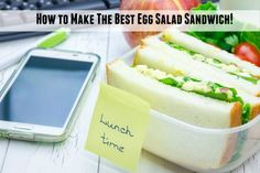 How to make best egg salad sandwich! Easy.