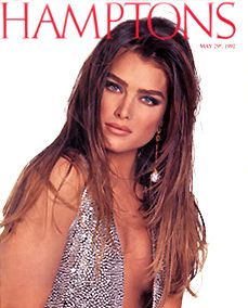 Brooke Shields by Francesco Scavullo for the cover of Hamptons, May 1992.