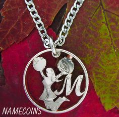 Cheerleader With Custom Letter Monogram Cut Coin by NameCoins, $44.99