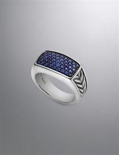 David Yurman Men's Rings   Black Diamond and Onyx Rings for Men