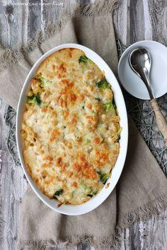 Leichter Nudel-Brokkoli-Auflauf mit Hähnchen   Essen   Kochen   Rezept