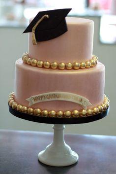 college graduation cakes for females Graduation Cake Pops, College Graduation Parties, Graduation Celebration, Grad Parties, Graduation Ideas, Pink Graduation Party, Graduation 2015, Graduation Cupcakes, Gateaux Cake