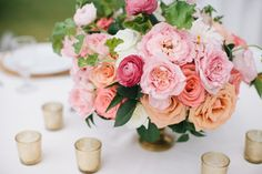 coral and pink centerpieces by Passion Roots | Oahu | Honolulu, Hawaii Florist | Pinky Photography