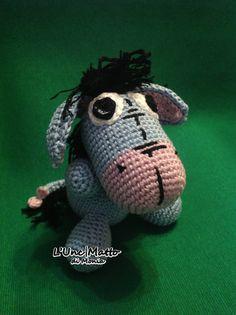 Eeyore Amigurumi Crochet UnciMatto toy cartoon Winnie the pooh donkey
