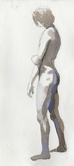 Quick watercolor figure sketch, 2008 - By Kirsten Zirngibl