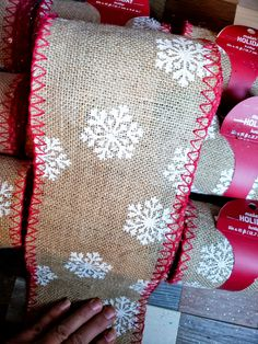 Snowflake burlap; snowflake burlap banner; craft supplies; snowflake burlap ribbon; snowflake burlap wreath; snowflake burlap ornament; burlap crafts; burlap projects; burlap bow diy; burlap christmas; 5 inch burlap ideas; supplies for burlap wreath; ribbon crafts; burlap ribbon roll; holiday mantel decor; christmas burlap decorations; burlap ribbon roll; winter burlap wreath diy; burlap wedding decor; diy burlap banner; burlap garland; winter aesthetic #snowflakes #burlap #winter #christmas