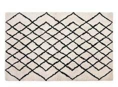 Fes gestikt vloerkleed 160 x 230cm, gebroken wit