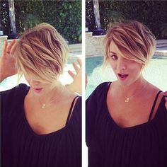 kaley cuoco hair cut | Here's Kaley Cuoco's latest hair inspiration: Peter Pan! | Celeb ...