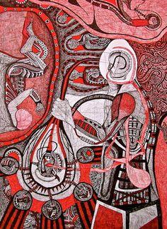 Tekanan Batin #37 / Suppression #37.Bolpoin On Paper, 55 cm X 38 cm, 2011