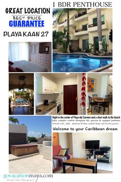 Right in the center of the cosmopolitan village of Playa del Carmen and a short walk to the beach. You will find this very spacious one bedroom penthouse perfect for you. American Kitchen, Storage Room, One Bedroom, Jacuzzi, Cosmopolitan, Washer And Dryer, Caribbean, Cable, Dining Room