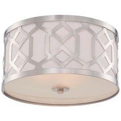 "Crystorama Jennings 16 1/4"" Wide Nickel Ceiling Light - #6G724 | LampsPlus.com"