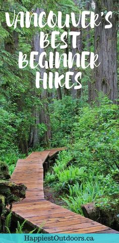 Easy hikes with gorgeous West Coast views - perfect for beginners or tourists in Vancouver, BC. Hiking in Vancouver, British Columbia, Canada. Vancouver Island, Vancouver Hiking, Vancouver Vacation, Alaska, Columbia Outdoor, Voyage Canada, Tips Fitness, Canadian Travel, Hiking Tips