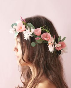 """""""A lot can go wrong when someone wears a real flower wreath,"""" Cetti says. """"They can be heavy and fall apart easily."""" Neither of which is a problem with her romantic cherry blossom and jasmine headpiece. Love it? Check out the full how-to in her book."""