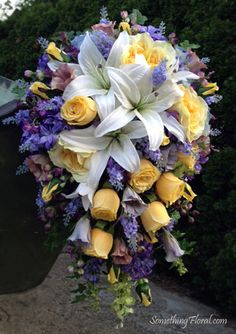 Purple and yellow wedding flower bouquets my flowers in action purple yellow flowers purple iris bridal bouquets best free home design idea inspiration mightylinksfo