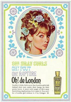 Jean Shrimpton for Yardley Oh! de London