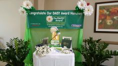 DAISY display table for their award celebrations ! Bayshore Medical Center in Pasadena, TX.