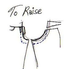 Altering pants - Raising the rise
