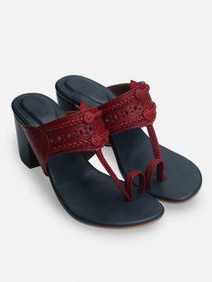 9d4558f44cab1 Purple Maroon Handcrafted Leather Heels. Wedge HeelsHigh HeelsFlatsSandalsLeather  ...