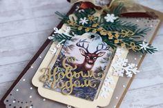 """Купить """"Новогоднее чудо"""" конверт для денег - Новый Год, конверт, коричневый, Конверт для денег"""