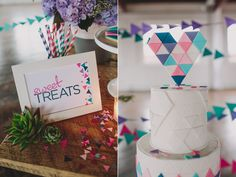Geometric Styled Shoot by Sarah Park Events - Erick would love this cake
